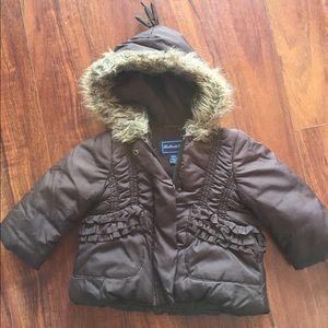 Rothschild Baby Girl's Brown Winter Coat  Size 12m